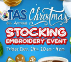 Christmas Stocking Embroidery Event