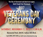 Claremont Veterans Day Ceremony