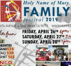 Holy Name of Mery Family Festival
